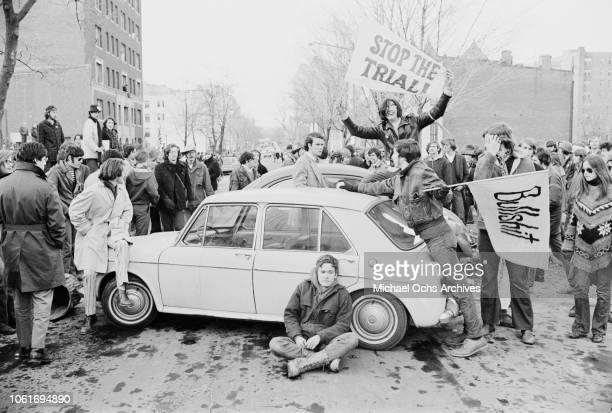 The TDA demonstration in Washington DC in which demonstrators gathered at the Watergate home of Attorney General John N Mitchell 19th February 1970...