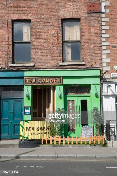 The Tea Garden shisha bar along Ormond Quay Lower on 2nd April 2017 in Dublin Republic of Ireland An alternative hangout and great place to buy tea...