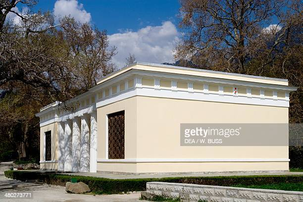 The Tea house in the grounds of Vorontsov Palace 18281846 designed by Edward Blore Alupka near Yalta Crimea Ukraine