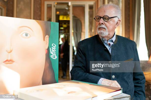 The teacher Fernando Botero during the presentation of the book Women of Botero Madrid, Spain. October 9, 2018