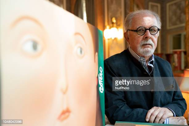 The teacher Fernando Botero during the presentation of the book Women of Botero Madrid Spain October 9 2018