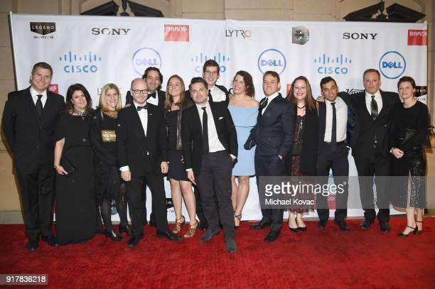 The team behind 'The Last Goodbye' attends the Advanced Imaging Society 2018 Lumiere Awards presented by Dell and Cisco at Steven J Ross Theatre on...