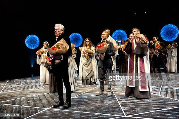 The team behind the Pillars of the Eart as musical receive the audince standing ovation after the world premiere on Ken Follett's famous novel at...