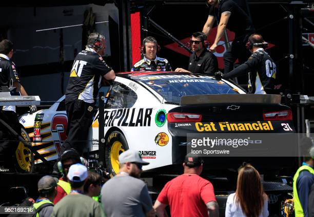 The team brings out a new car after Ryan Newman was involved in a wreck during practice for the 49th Annual GEICO 500 Monster Energy NASCAR Cup...
