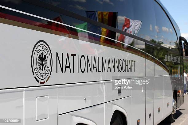 The team bus of the German national football team is pictured on May 31, 2010 in Appiano sulla Strada del Vino, Italy.