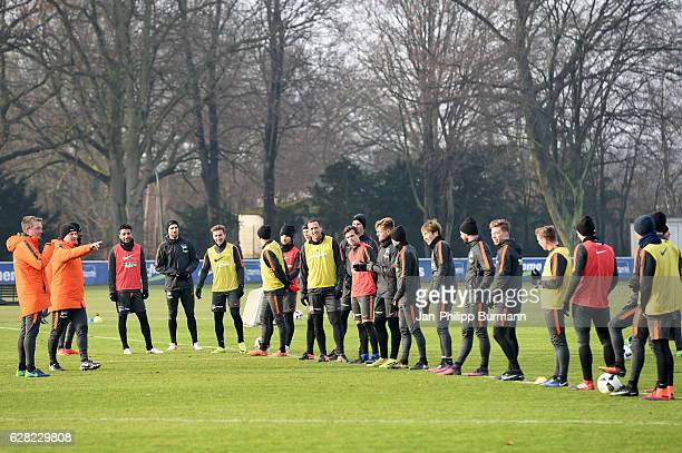 The Team during the training on december 7 2016 in Berlin Germany