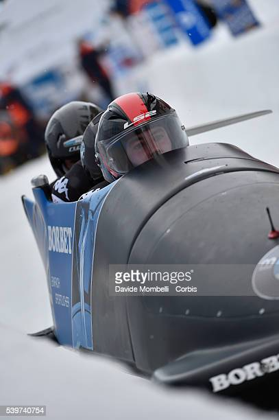 the team MAIER Benjamin RANGL Marco SAMMER Markus MOLDOVAN Danut Ion It qualifies in second place BMW IBSF World Cup Bob 2015/2016 St Moritz Swiss...