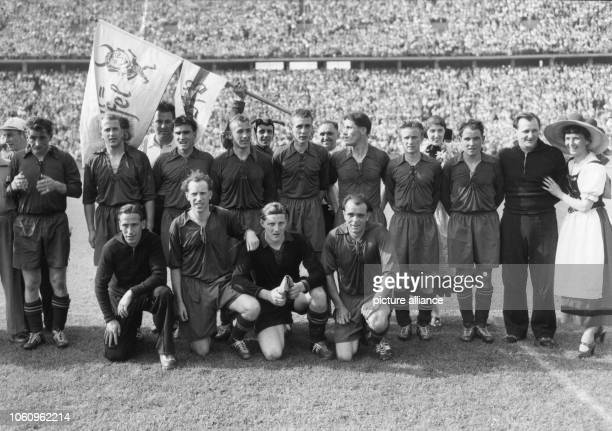 The team of 1 FC Kaiserslautern wins the German Championship on the 21st of June in 1953 against VfB Stuttgart with 41 National players Fritz Walter...