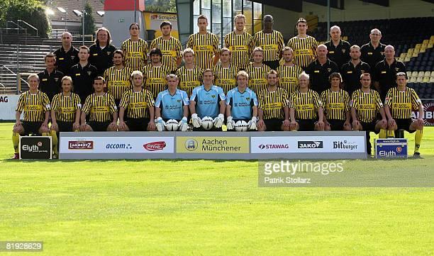 The team of Alemannia Aachen staff member Mohammed Hadidi staff member Michael Foerster Jerome Polenz Benjamin Auer Lukasz Szukala Daniel Brinkmann...