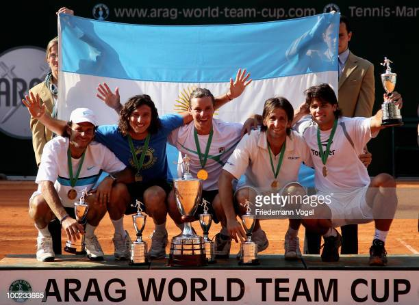 The team of Argentina celebrates after winning the ARAG World Team Cup during day seven of the ARAG World Team Cup at the Rochusclub on May 22 2010...