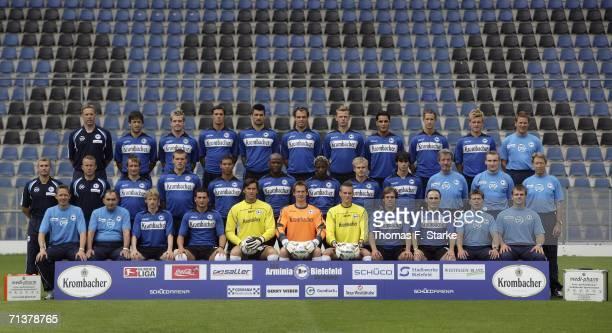 The team of Arminia Bielefeld assistant coach Thomas Schlieck Markus Schuler Thorben Marx Markus Bollmann Petr Gabriel Heiko Westermann Radim Kucera...