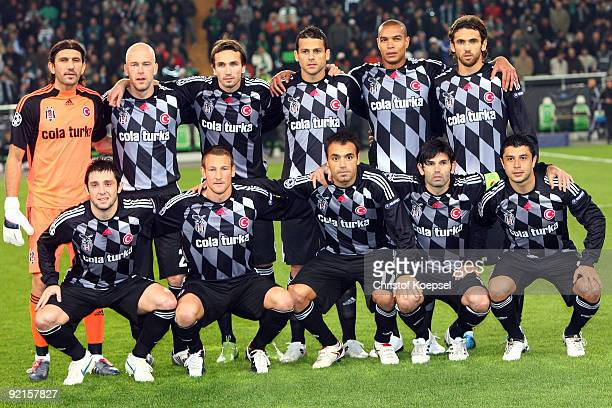 The team of Besiktas comes together prior to the UEFA Champions League Group B first leg match between VfL Wolfsburg and Besiktas at the Volkswagen...