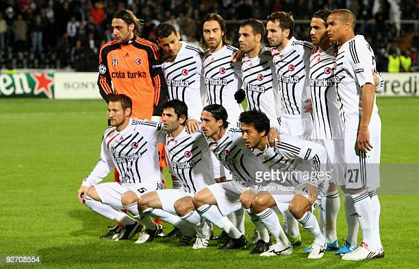 The team of Besiktas line up for a photo prior to the UEFA Champions League Group B match between Besiktas and VfL Wolfsburg at the Inoenue stadium...