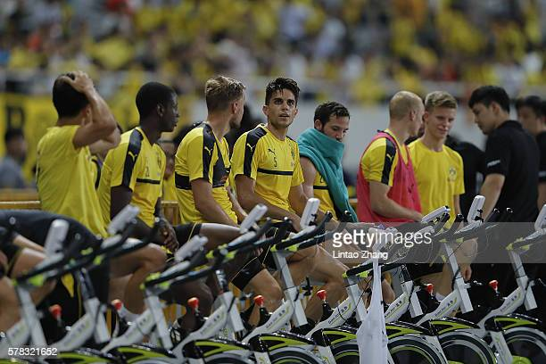 The team of Borussia Dortmund at a training session before the International Champions Cup China during Borussia Dortmund's Summer Asia Tour 2016 at...