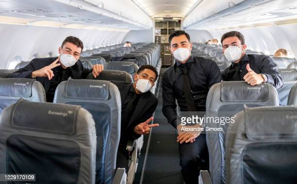 The team of Borussia Dortmund at the airport before leaving to Rome prior to the Champions League match on October 19 2020 in Dortmund Germany