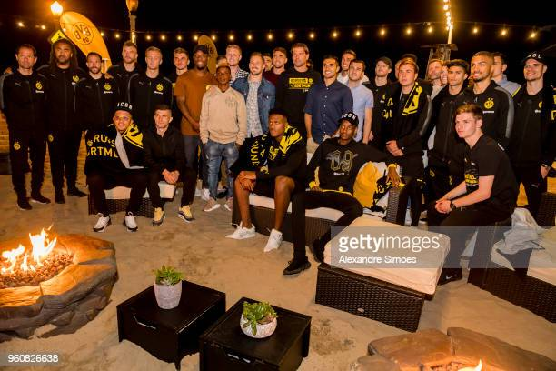 The team of Borussia Dortmund together at the Santa Monica beach party during Borussia Dortmund's USA Training Camp in the United States on May 20...