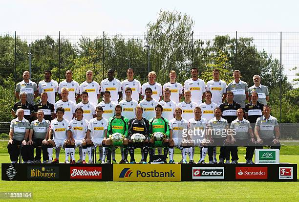 The team of Borussia M'gladbach back row athletic coach Christian Weigl Dante Bamba Anderson Michael Bradley Mo Idrissou Roel Brouwers Tobias Levels...