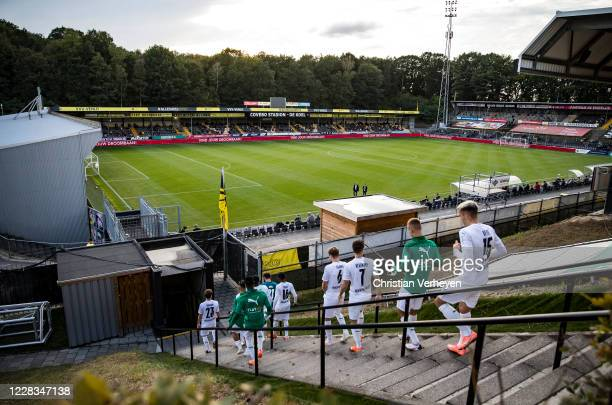 The team of Borussia Moenchengladbach is seen on their way to the pitch ahead the preseason friendly match between VVV-Venlo and Borussia...
