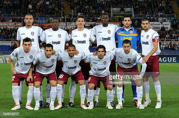 The team of Cluj before the UEFA Champions League group E match between AS Roma and CFR Cluj at Stadio Olimpico on September 28 2010 in Rome Italy