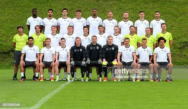 The team of Germany Emre Can Mario Goetze Julian Draxler MarcAndre TerStegen Manuel Neuer Bernd Leno Lukas Podolski Joshua Kimmich Leroy Sane head...