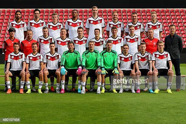 The team of Germany Erik Durm, Mario Goetze, Julian Draxler, Roman Weidenfeller, Manuel Neuer, Ron-Robert Zieler, Philipp Lahm, Marco Reus, Matthias...