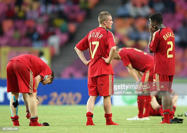 The team of Germany is seen after the FIFA U17 World Cup Group A match between Argentina and Germany at the Abuja National Stadium on October 27 2009...