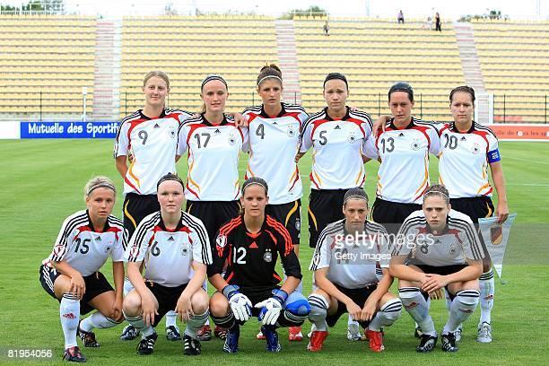 The team of Germany Left to right Marie Pollman Marisa Ewers Stefanie Mirlach Josephine Henning Lisa Schwab Francesca Weber Julia Simic Maria...