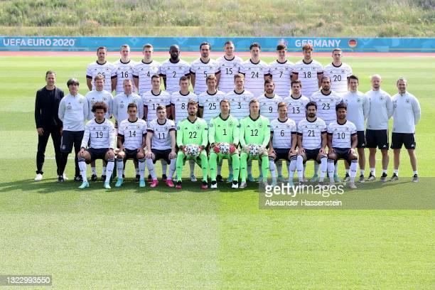 The team of Germany Leroy Sane, Jamal Musiala, Timo Werner, goalkeeper Kevin Trapp, goalkeeper Manuel Neuer, goalkeeper Bernd Leno, Joshua Kimmich,...