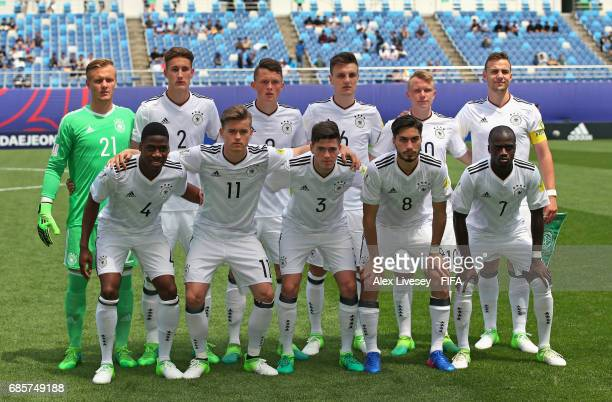 The team of Germany pose for a photograph prior to the FIFA U20 World Cup Korea Republic 2017 group B match between Venezuela and Germany at Daejeon...