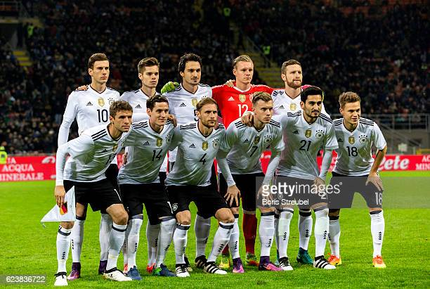 The team of Germany pose prior to the International Friendly Match between Italy and Germany at Giuseppe Meazza Stadium on November 15 2016 in Milan