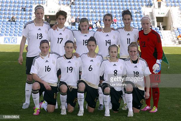 The team of Germany poses before the Under 19 International Friendly match between Israel and Germany on December 15 2011 in Petah Tiqwa Israel