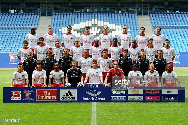 The team of Hamburg Guy Demel Marcell Jansen Maxim ChoupoMoting Ruud van Nistelrooy David Rozehnal Heiko Westermann Paolo Guerrero Joris Mathijsen...