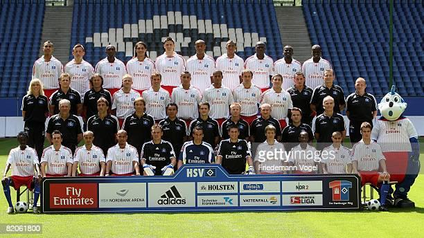 The team of Hamburger SV Jonathan Pitroipa Piotr Trochowski Sidney Sam Nigel de Jong Frank Rost Raphael Wolf Wolfgang Hesl Anton Putsilo Romeo...