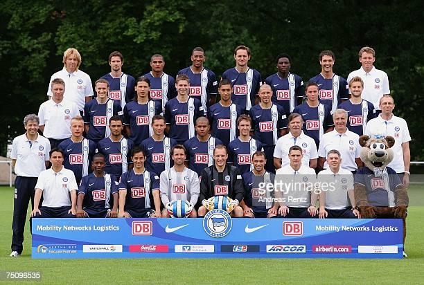 The team of Hertha BSC Berlin David De Mel Ibrahima Traore Dennis Cagara Christian Fiedler Jaroslav Drobny Bilal Cubukcu Hendrik Herzog Robert...