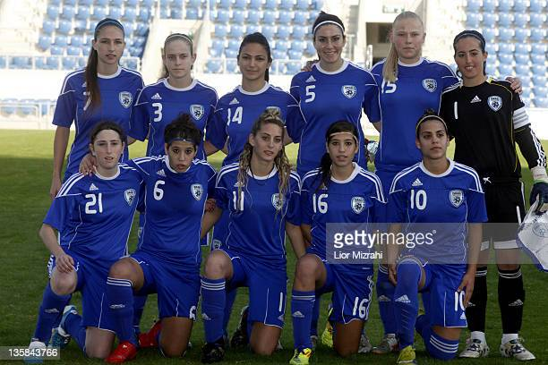 The team of Israel poses for a picture before the Under 19 International Friendly match between Israel and Germany on December 15 2011 in Petah Tiqwa...