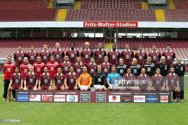The team of Kaiserslautern starts from from the upper row with Ilian Micanski Thanos Petsos Willi Orban Adam Nemec Rodnei Martin Amedick Lucas...