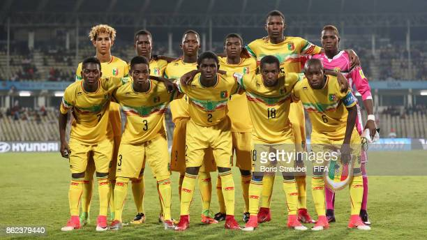 The team of Mali pose for a group picture prior to the FIFA U17 World Cup India 2017 Round of 16 match between Mali and Iraq at Pandit Jawaharlal...