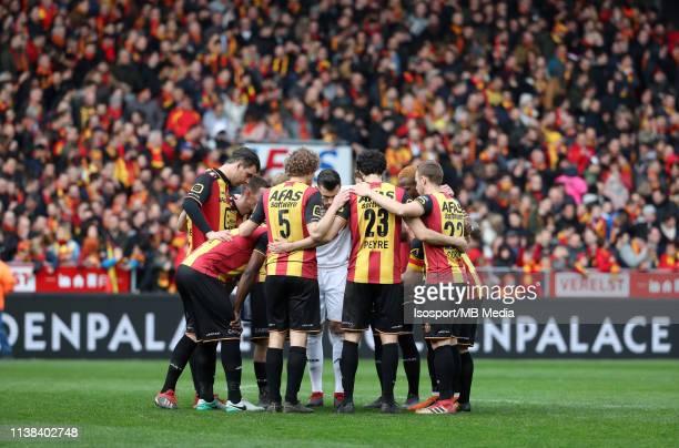The team of Mechelen during the Proximus League test match between Kv Mechelen and Kfco Beerschot Wilrijk on March 16, 2019 in Mechelen, Belgium.
