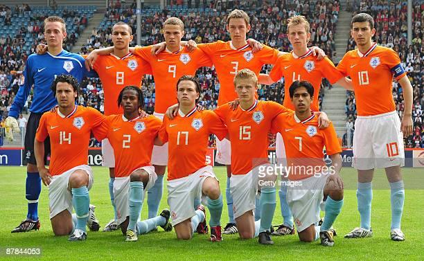 The team of Netherlands lines up Gerrit Jan ter Mate, Goalkeeper, Osama Rashid, Luc Castaignos, Stefan De Vrij, Dico Koppers, Oguzhan Oezyakup...