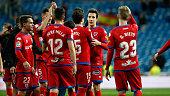madrid spain team numancia celebrates after