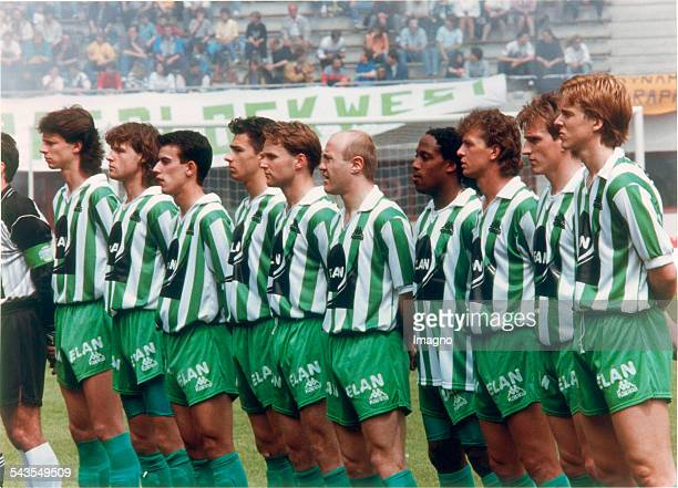 The team of Rapid Wien at the cup final vs Stockerau Final score 12 GerhardHanappiStadion Vienna 30th May 1991 Photograph