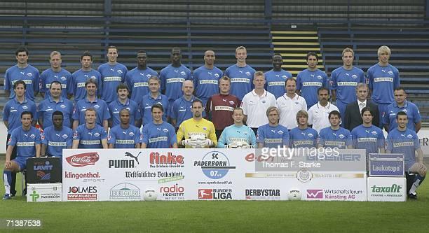 The team of SC Paderborn Dusko Djurisic Thorsten Becker Jerome Colinet Roel Brouwers Dion Esajas Lionel DjebiZadi Jose RA Fumaca Antunes Stephan...