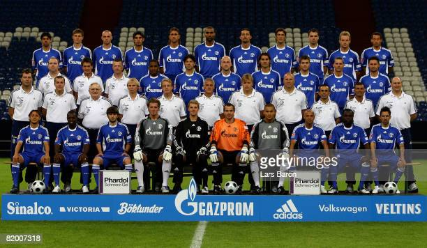 The team of Schalke Rafinha Ze Roberto Levan Kenia goalkeeper Ralf Faehrmann goalkeeper Manuel Neuer goalkeeper Mathias Schober goalkeeper Mohamed...