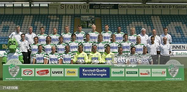 The team of SpVgg Greuther Fuerth assistant coach Werner Dressel headcoach Benno Moehlmann Juri Judt Stephan Schroeck Daniel Adlung Stefan Reisinger...