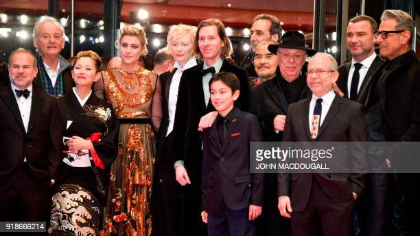 The team of the opening movie Isle of Dogs among them US actor Bill Murray Japanese actress Mari Natsuki US actress Greta Gerwig and British actress...