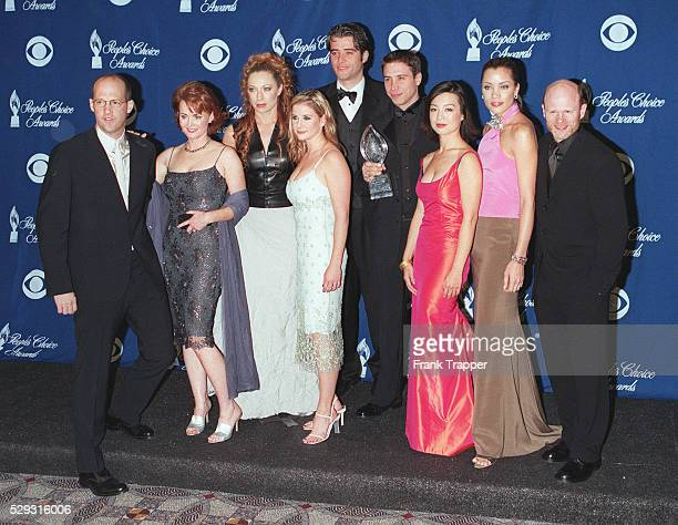 The team of the series 'ER' with their award