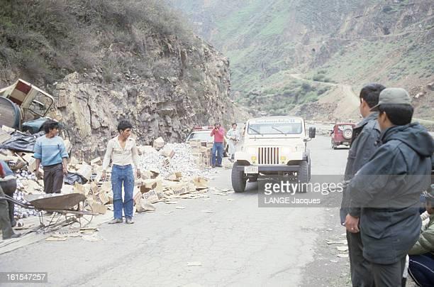 The Team Of Tso Recognizing The Course Of First Rally 'transamazonienne' Transamazon 1988 Février 1988 reconnaissance du parcours du premier rallye...