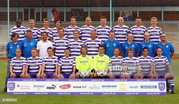 The team of VfL Osnabrucke Assimiou Toure, Mathias Surmannm Paul Thomik, Gaetano Manno, Marvin Braun, Marcel Schuon, Thomas Cichon, Mathias Heidrich,...