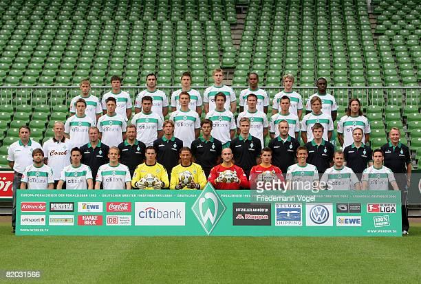 The team of Werder Bremen Diego Martin Harnik Petri Pasanen Nico Pellatz Tim Wiese Sebastian Mielitz Christian Vander Max Kruse Daniel Jensen and...