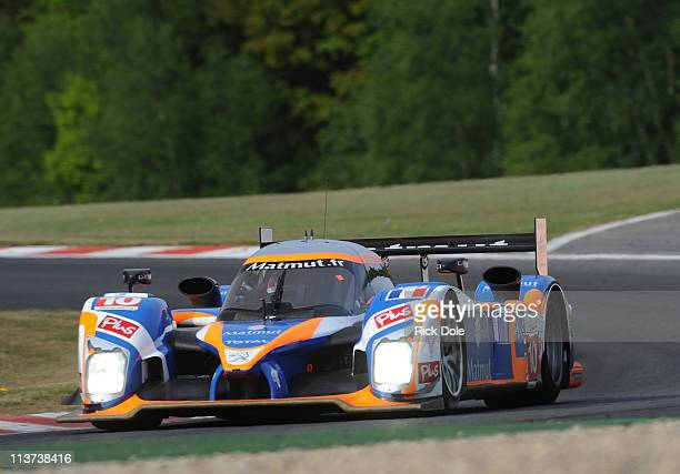 The Team Oreca Matmut Peugeot 908 driven by Nicolas Lapierre Loic Duval and Olivier Panis all of France during practice for the Intercontinental Le...
